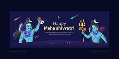 Happy Maha Shivratri facebook cover page design