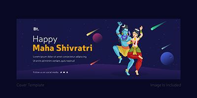 Happy Maha Shivratri facebook cover page template design