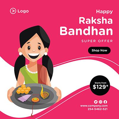 Happy Raksha Bandhan festival banner design