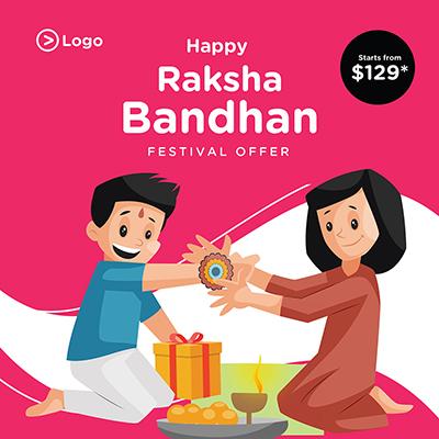 Happy Raksha Bandhan festival banner template design-05 small