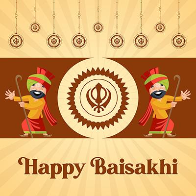 Harvest festival of happy Baisakhi banner design