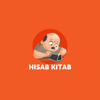 Hisab Kitab Indian Vector Mascot Logo Template