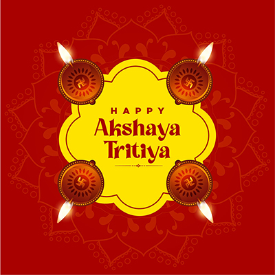 Indian festival of Akshaya Tritiya on banner design