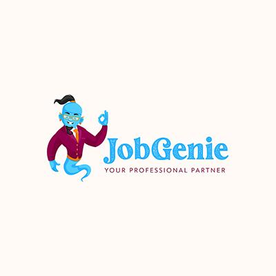 Job Genie Vector Mascot Logo Template