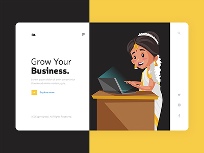 Landing page template design for grow your business