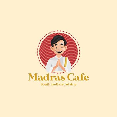 Madras Cafe Vector Mascot Logo Template