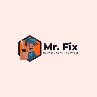 Mr.Fix Repair Service Vector Mascot Logo Template