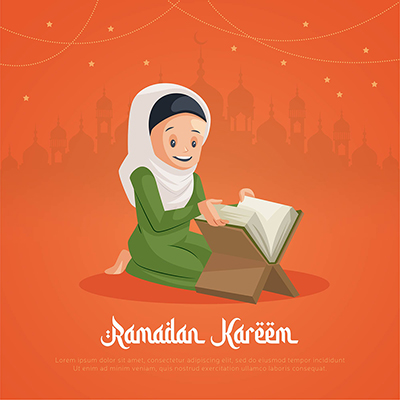 Muslim Ramadan Kareem festival banner design template