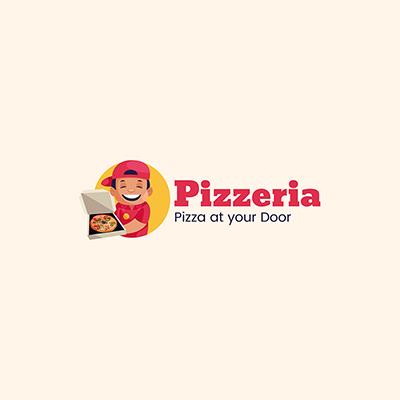 Pizzeria Vector Mascot Logo Template