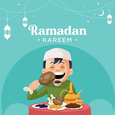Ramadan Kareem Islamic festival with a banner design template