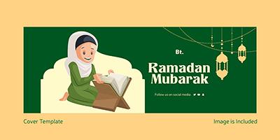 Ramadan Mubarak festival on a facebook cover design