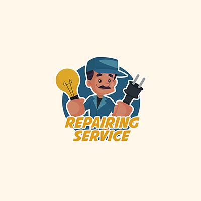 Repairing Service Vector Mascot Logo Template