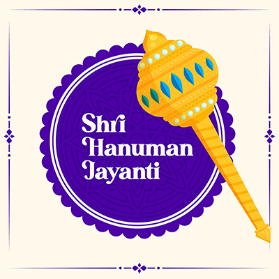 Shri Hanuman Jayanti cultural festival banner design template