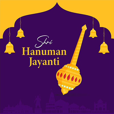 Shri Hanuman jayanti Hindu religious festival banner design