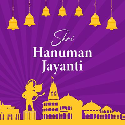 Shri Hanuman jayanti flat banner template design