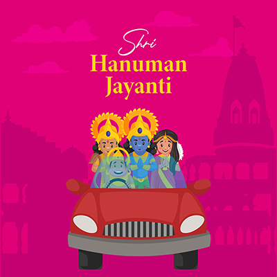 Shri hanuman jayanti social media banner design template
