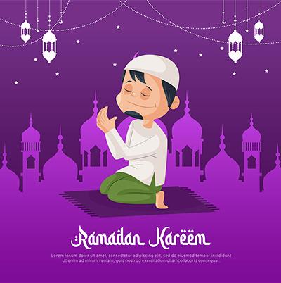 Social media banner template design of Ramadan Kareem