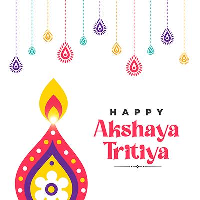 Social media banner of Indian festival Akshaya Tritiya