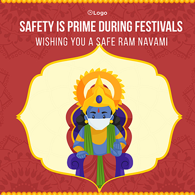 Wishing you a safe Ram Navami with banner design