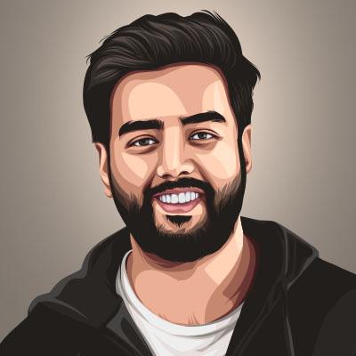 Yashraj Mukhate Indian Youtuber & Music Composer Vector Portrait