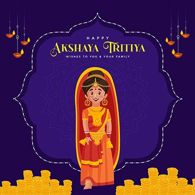 Akshaya tritiya wishes to you and your family banner design