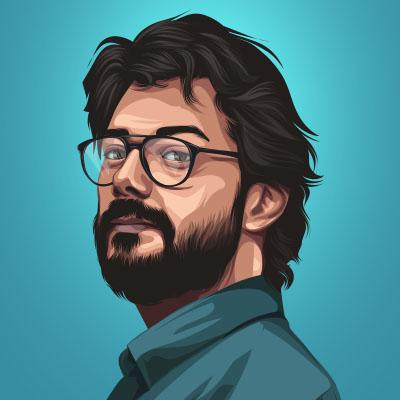 Alvaro Morte Spanish Actor Portrait Illustration
