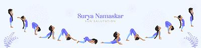 Banner design for Surya namaskar sun salutation