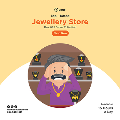 Banner design of jewellery store top rated