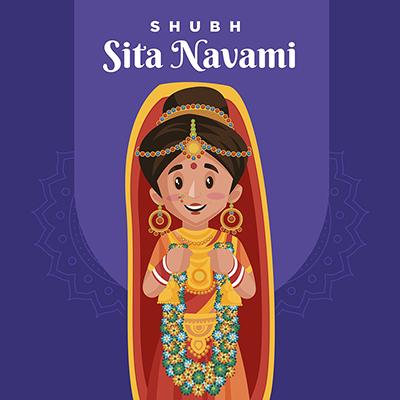 Banner design of shubh Sita navami