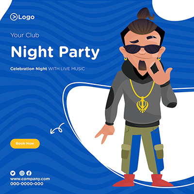 Banner design of your club night party