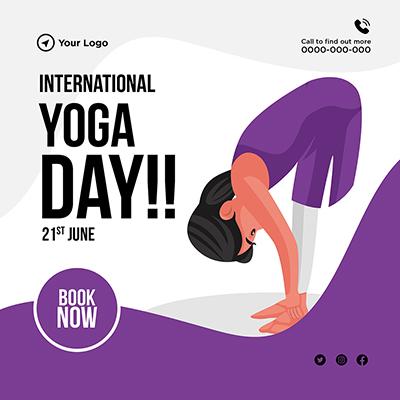 Banner for international yoga day
