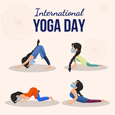 Banner for international yoga day illustration