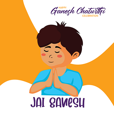 Banner happy ganesh chaturthi celebration jai ganesh