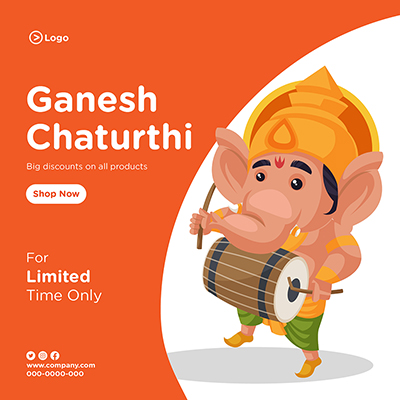 Banner of ganesh chaturthi big discount on all products