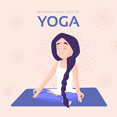 Banner of the international day of yoga