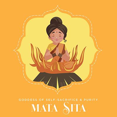 Banner of mata Sita goddess of self-sacrifice and purity
