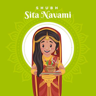 Banner of shubh Sita navami