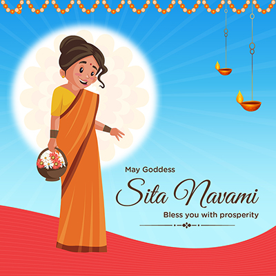 Banner of Sita Navami may goddess bless you with prosperity