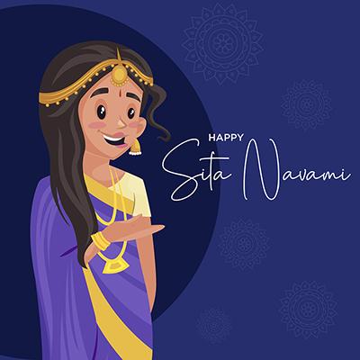 Banner template for happy Sita navami