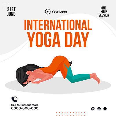 Banner template for international yoga day