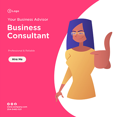 Banner template for professional business consultant