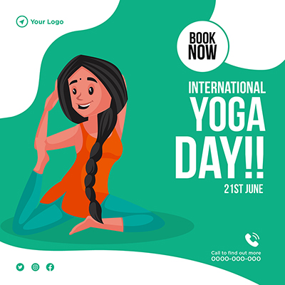 Banner template of international yoga day