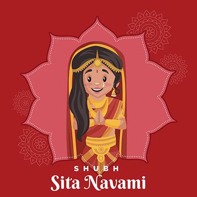 Banner template of shubh Sita navami