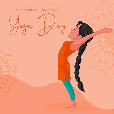 Flat banner design with international yoga day