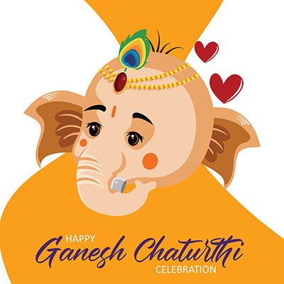 Happy Ganesh Chaturthi celebration banner design