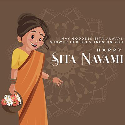 Happy goddess sita navami banner