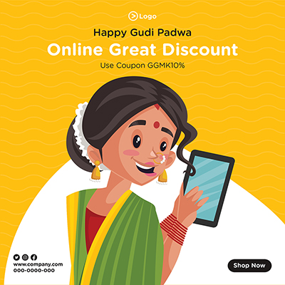 Happy Gudi Padwa online great discount with banner