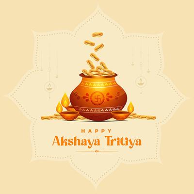 Hindu festival happy akshaya tritiya banner design template