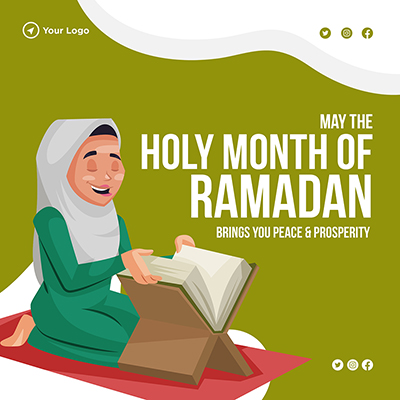 Banner design may the holy month of Ramadan