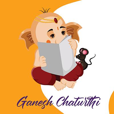 Indian festival of Ganesh Chaturthi banner design